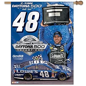Jimmie Johnson Official NASCAR 27x27 Banner Flag by Wincraft by WinCraft
