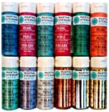 Martha Stewart PROMO769 12 Metallic/Pearl Paint Set