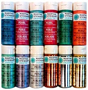 Martha stewart crafts promo769 12 metallic for Martha stewart crafts spray paint kit