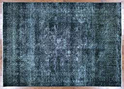 7\'x10\' Hand Knotted Persian Overdyed Veg Dyed Oriental Wool Area Rug W207
