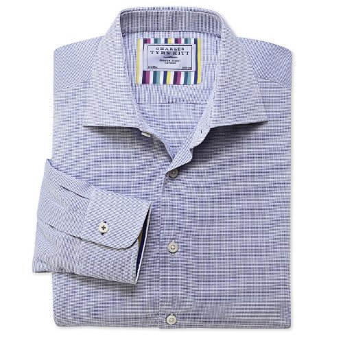 Charles Tyrwhitt Royal mini texture business casual classic fit shirt (15 - 33)
