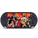 Xindda Handheld Games Console, 5.0in Big Screen Handheld Video Console Street Fighers Final Fight Game Player (Color: Black)