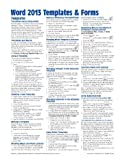 Microsoft Word 2013 Templates & Forms Quick Reference Guide (Cheat Sheet of Instructions, Tips & Shortcuts - Laminated Card)