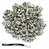 Estone 100pcs Toothed Hex 6/32 Computer PC Case Hard Drive Motherboard Mounting Screws