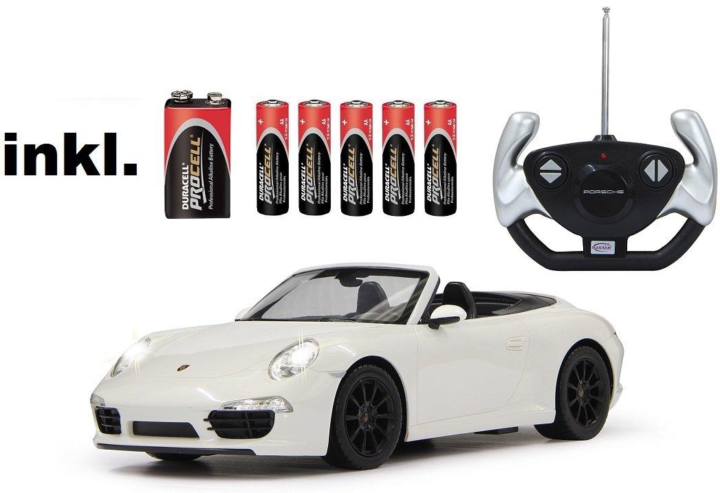 RC Porsche 911 Carrera S ferngesteuert 1:12 inkl. Batterien – Licht – RTR – (Farbe wählbar) (weiß 40 MHz) günstig bestellen