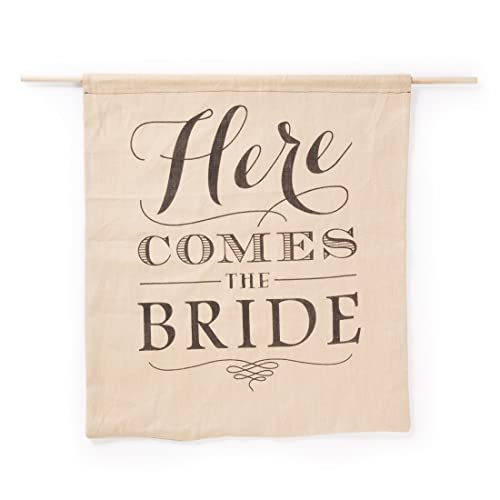 Hortense B. Hewitt Rustic Here Comes The Bride Sign