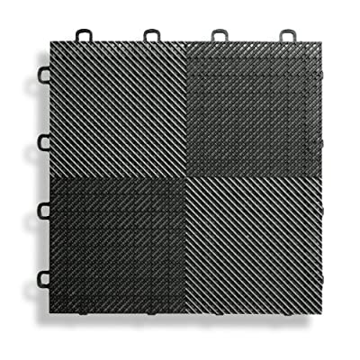 Interlocking Perforated / Drain Floor Tile - 30 sq.ft. - Black