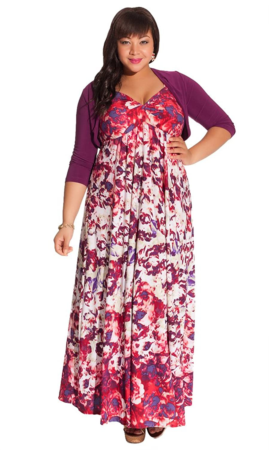 HD wallpapers avril plus size maxi dress in violet with shrug Page 2
