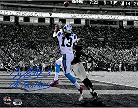 "Kelvin Benjamin Carolina Panthers Autographed 11"" x 14"" Spotlight Photograph with Go Panthers Inscription - Fanatics Authentic Certified"