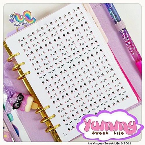 1-foglio-di-adesivi-stickers-a5-emoticon-emozioni-kawaii