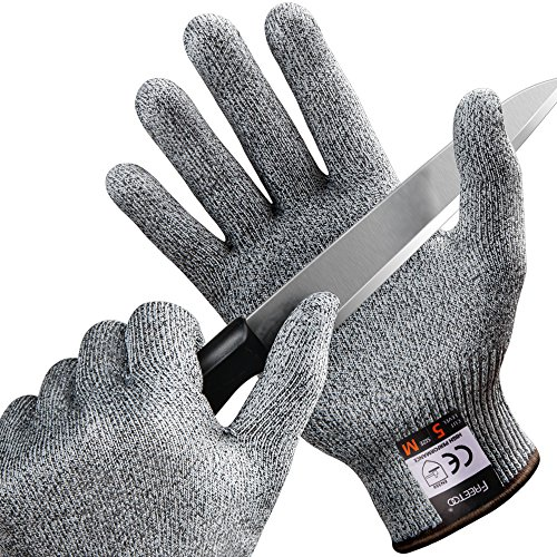 Cut Resistant Gloves Freetoo High Performance Kitchen Gloves Light Weight Level 5 Hand