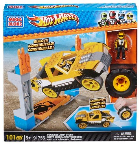 Mega Bloks 91756 - Wheels Fearless Jump Stunt, Konstruktionsspielzeug