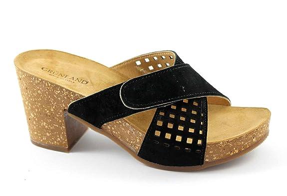 Grunland GRUP CB0638 sandales noires femme déchirant sabots