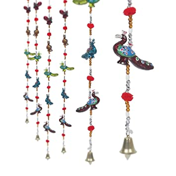 jaipuri haat rajasthani handcrafted peacock door hanging home decor set of 2 - Amazon Home Decor