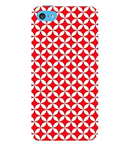 Red Circular Triangles 3D Hard Polycarbonate Designer Back Case Cover for Apple iPod Touch 6 (6th Generation)