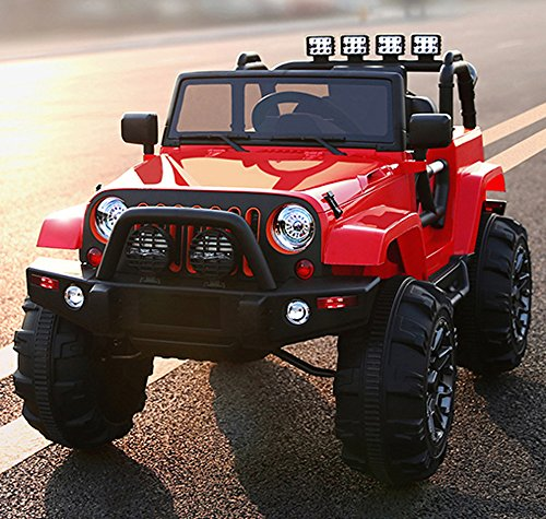 kids ride on jeep 12v power with big wheels and remote control red little kid cars