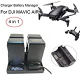 Inverlee Smart Charger Battery Manager Batteries Charging For DJI Mavic Air Drone Parts (Black) (Color: Black)