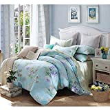 FeiLimei Bedding&Clothes 花柄 布団カバー 綿100 4点セット BC1803