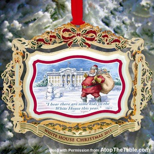 2011 White House Christmas Ornament, Santa Visits the White House (White House Historical compare prices)