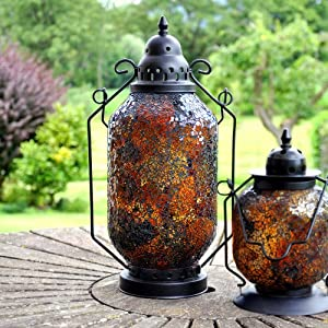 Large Mosaic Moroccan / Turkish Style Decorative Hanging Lantern ...