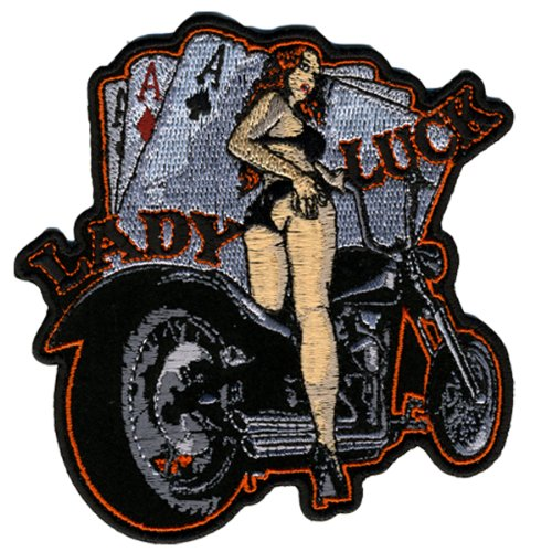 Hot Leathers Lady Luck Pin Up Patch (4