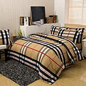 Amazon Hot Sale Bedclothes Bed Linen 3 4pcs Bed Set
