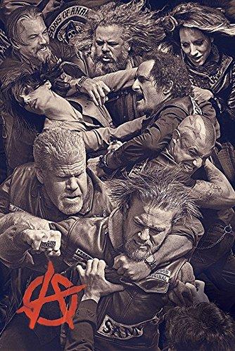 """Sons of Anarchy-Maxi Poster """"Fight, legno, multicolore"""