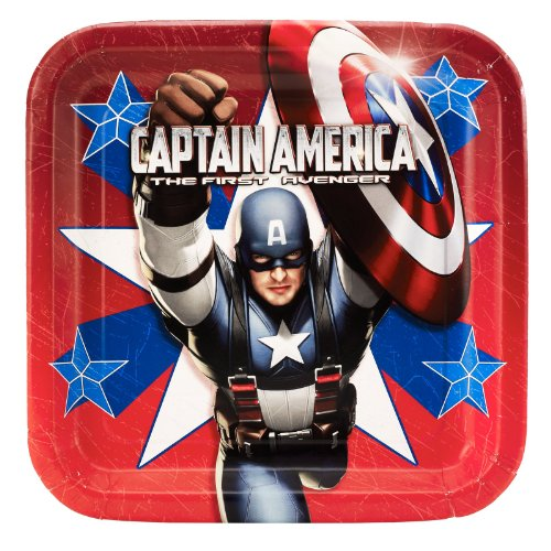 Captain America - Square Dinner Plates Party Accessory