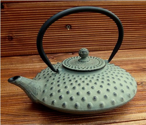 teeblume - Cast Iron Teapot Kambin 0.8 litre, grey-green, incl. shipping costs