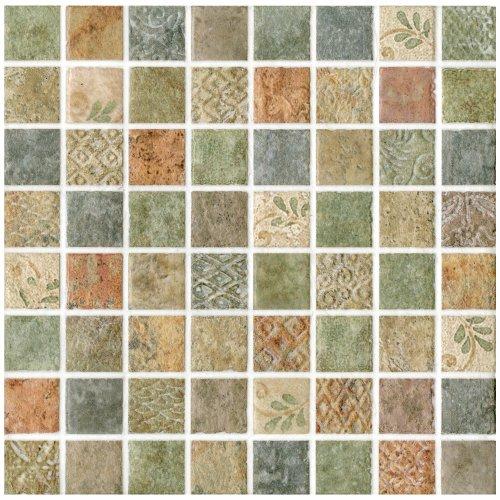 Tesselar lumine 7 13 16 x 7 13 16 inch ceramic wall tile for 13 inch ceramic floor tile