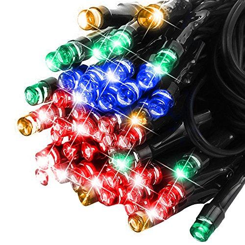 Isightguard 20m 66ft 200 LED Luci Solari Fata Luce Solare Impermeabile per Luci di Natale all'Aperto del Giardino (Colorato)