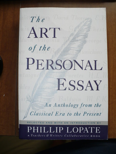 the art of the personal essay an anthology