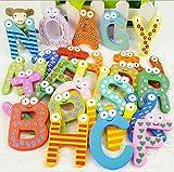 Tickles 26 pcs Letter wood alphabhet Fridge Magnet Educational Toys for kids 19 cm