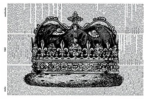 scottish-crown-art-print-royal-crown-art-print-vintage-art-print-illustration-picture-vintage-dictio