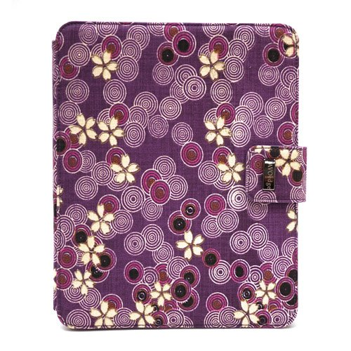 JAVOedge Cherry Blossom Axis Case for the Apple iPad (Twilight Purple)