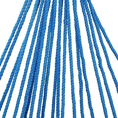 Kinlo®Hängesessel mit Lehnen+Kissen Belastbarkeit 100 KG hängestuhl hängesitz blau grün gestreift von Kinlo bei Gartenmöbel von Du und Dein Garten