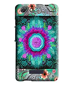 Omnam Flower Printed Pattern Printed Designer Back Cover Case For Micromax Unite 3