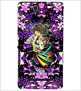PrintDhaba Fantasy Girl D-3864 Back Case Cover for SONY XPERIA C3 (Multi-Coloured)