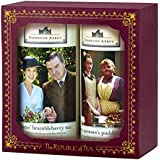 The Republic Of Tea Downton Abbey Downstairs Gift Set, 2 Tins Of 36 Tea Bags, Pudding And Brambleberry Dessert Teas