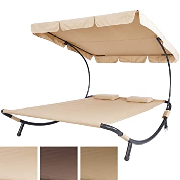 double bain de soleil transat transat couleur cappuccino 2 2 places avec pare soleil. Black Bedroom Furniture Sets. Home Design Ideas