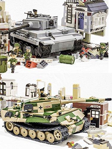 Cobi 24622460 – Blitzkrieg Spar Paket: Bausteine Tiger Panzer VI Ausf. E & Königstiger Modell Panzer PzKpfw VIB, über 1000 Teile ! günstig bestellen