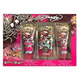 Ed Hardy Hearts & Daggers By Ed Hardy 3 Piece Gift Set With 1.7 Spray For Women