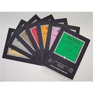 Arches Watercolor Paper Block, Rough, 5.9 x 11.8, 140 pound (Tamaño: 5.9x11.8)