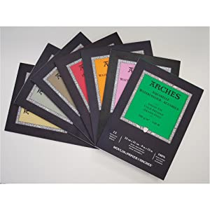 Arches Watercolor Paper Block, Hot Press, 7.9 x 7.9, 140 pound (Tamaño: 7.9x7.9)