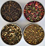 Heavenly Tea Leaves Tea Sampler Gift Set - 4 Bestselling Cans - Approximately 25 Servings of Tea Per Can