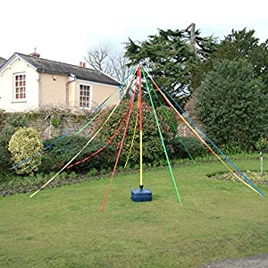 Maypole Dance Around Holding Ribbons In May The 3M Pole