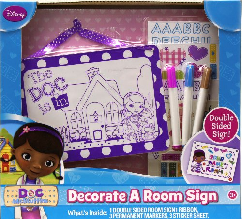 Tara Toy Doc McStuffins Decorate a Room Sign