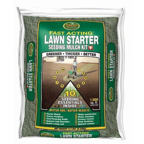 Encap 107414 Fast Acting Lawn Starter Seeding Mulch Kit, 1M