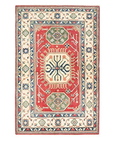 eCarpet Gallery One-of-a-Kind Hand-Knotted Gazni Rug, Red, 5' x 7' 8