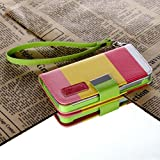 myLife Spring Colors Design - Textured Koskin Faux Leather (Card and ID Holder + Magnetic Detachable Closing) Slim Wallet for iPhone 5/5S (5G) 5th Generation iTouch Smartphone by Apple (External Rugged Synthetic Leather With Magnetic Clip + Internal Secure Snap In Hard Rubberized Bumper Holder)